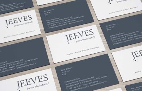 Jeeves Blockchain, Visitenkarten Mockup